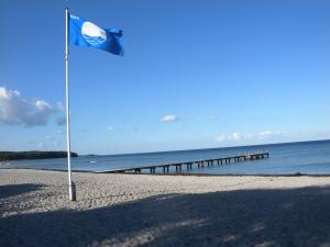 Blå flag i august