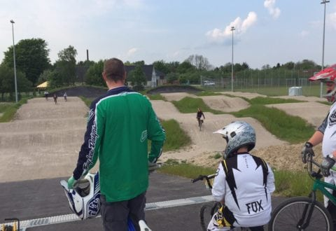 BMX-banen ved Nørrevangstorvet i Slagelse