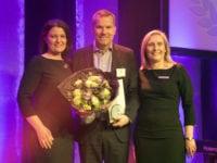 Salgsdirektør i Comwell Henrik Hjorth modtog Årets møde- og eventsted award 2017
