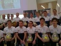 Slagelse Hockeyklubs eliteherrer, der vandt Årets Idrætspræstation 2016 ved Slagelse Guld. Foto: Jette