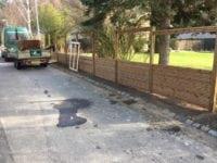 Dette hegn er sat op af Grønt Design. Anlæg, asfaltering, beplantning er typiske opgaver.