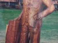 Skulptur af teglværker, der tidligere stod ved Teglværksparken, Korsør.