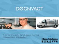 Claus Lund Nielsen Blik & VVS har døgnvagt.