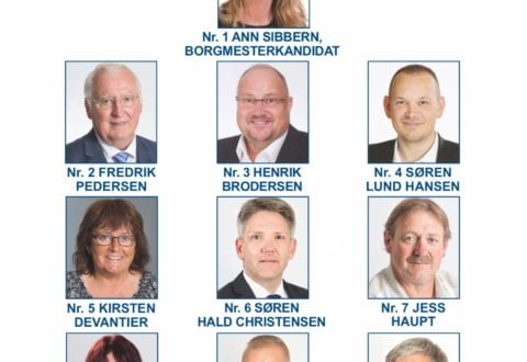 Kandidater for Dansk Folkeparti til kommunevalg 2017