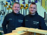 Mathias og Mads er nye regionsmestre i Skills i Bygningskonstruktør-uddannelsen. Foto: M. Winther-Rasmussen