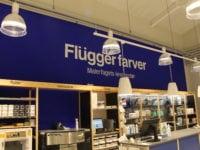 Flügger farver har butik i Slagelse. Foto: Jette